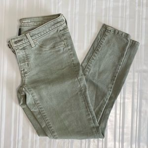 EUC Olive Green Mid Rise Jegging Jeans